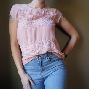 LC LAUREN CONRAD Blush Pink Top